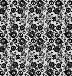 Black and white abstract background with circles vector image