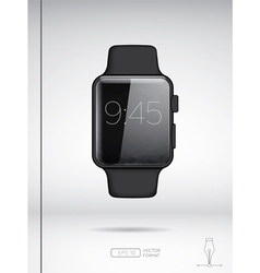 Black smart watch isolated on white backround vector