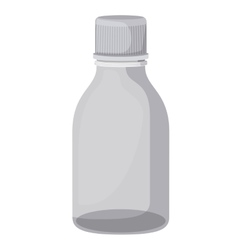 bottle syrup isolated icon vector image
