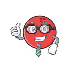 businessman bowling ball character cartoon vector image