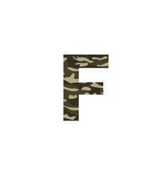 camouflage logo letter f vector image