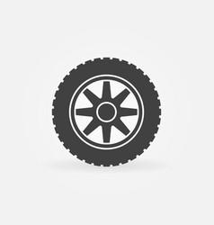 car wheel simple icon - car service sign vector image