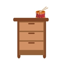 Closet with toy icon vector