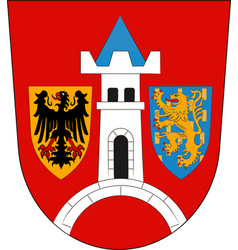 Coat of arms of schwabach in middle franconia vector