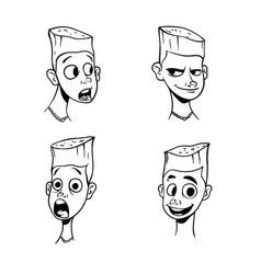 contour pattern of boys emotions vector image