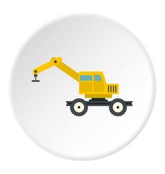 Crane truck icon circle vector