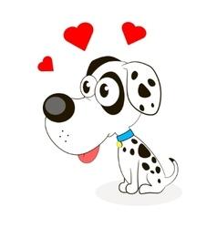 Cute little dog vector