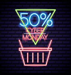Cyber monday shop vector