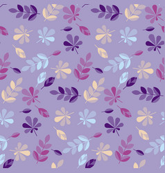 Decorative fall leaves seamless pattern vector