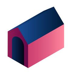 dog house icon isometric style vector image