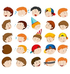 Facial expressions of boys vector