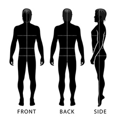 Fashion man full length template figure silhouette vector