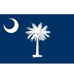 Flag of South Carolina correct size color vector