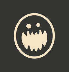 Flat in black and white mobile application vampire vector