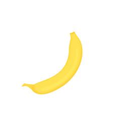 fresh yellow ripe banana for healthy eating vector image