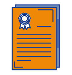 Graduation certificate isolated icon vector