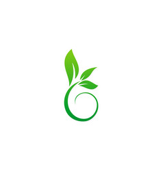 green leaf plant ecology logo vector image