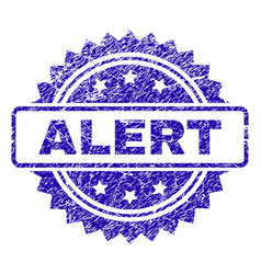 grunge alert stamp seal vector image
