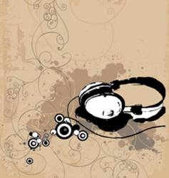 headphone background vector image