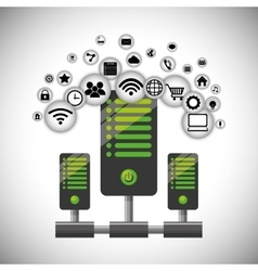 Hosting internet of things design vector