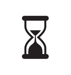 hourglass - black icon on white background vector image