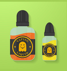 Icon of vape liquid or juice with ghost vector