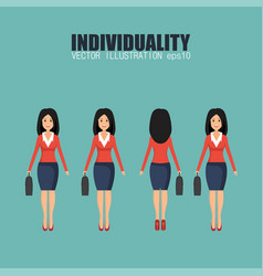 Individuality concept in flat design vector