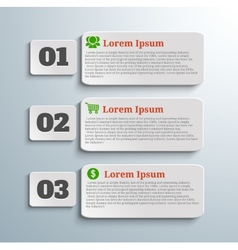 Infographic banners with icons and number vector image