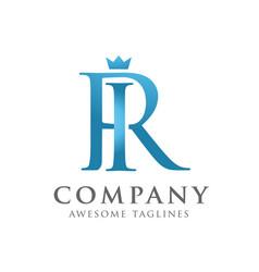 Letters ri or ir logo monogram style vector