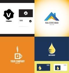 Logo design elements icon set vector image vector image