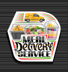 Logo for meal delivery service vector