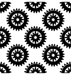 Machine gears and pinions seamless pattern vector