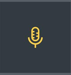 microphone symbol design vector image