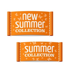 New summer collection clothing labels vector image