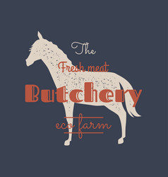 organic farm butchery abstract sign symbol vector image