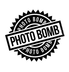 Photo bomb rubber stamp vector