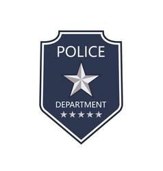 Police badge shield cop department badge of vector