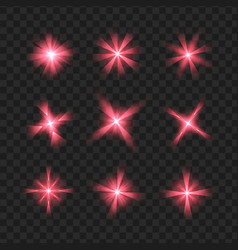 purple shine stars with glitters effect graphic vector image