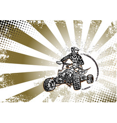 Quad bike vector