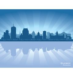 Quebec canada skyline vector
