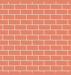 red brick wall texture seamless background vector image