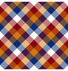 Red orange blue white diagonal check seamless vector