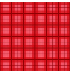 Red Tartan Background vector image