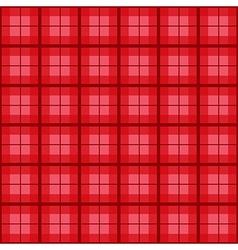 Red tartan background vector