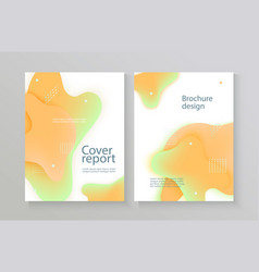 report cover template with gradient liquid drop vector image
