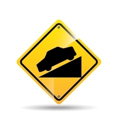 road sign steep decline icon vector image