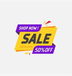 Sale discount banner vector