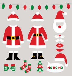santa claus clothes christmas and new year vector image