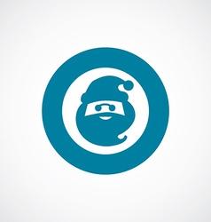 Santa icon bold blue circle border vector