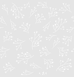 Seamless floral pattern with hand drawn branches vector